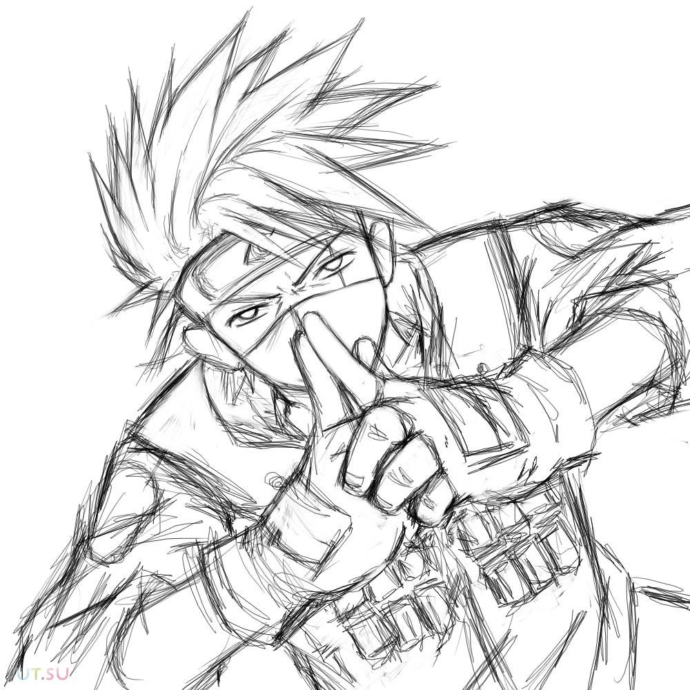 kakashi sketches - 1000×1000